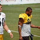 Moore and Warren at 2010 Steelers Camp by Imagery