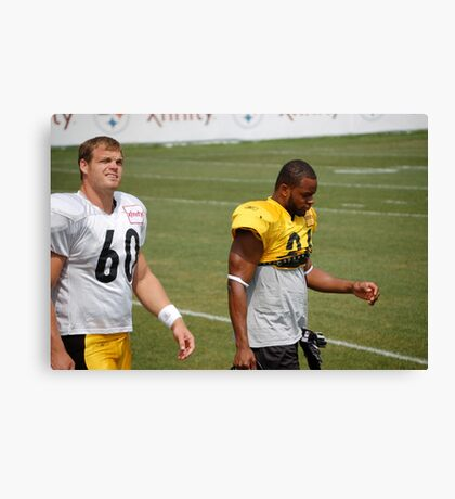 Moore and Warren at 2010 Steelers Camp Canvas Print