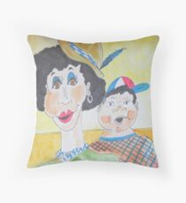 Promise, we won't stay long... Throw Pillow