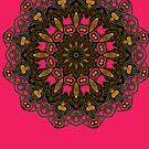 Rustic Gold Tribal Mandala  by webgrrl