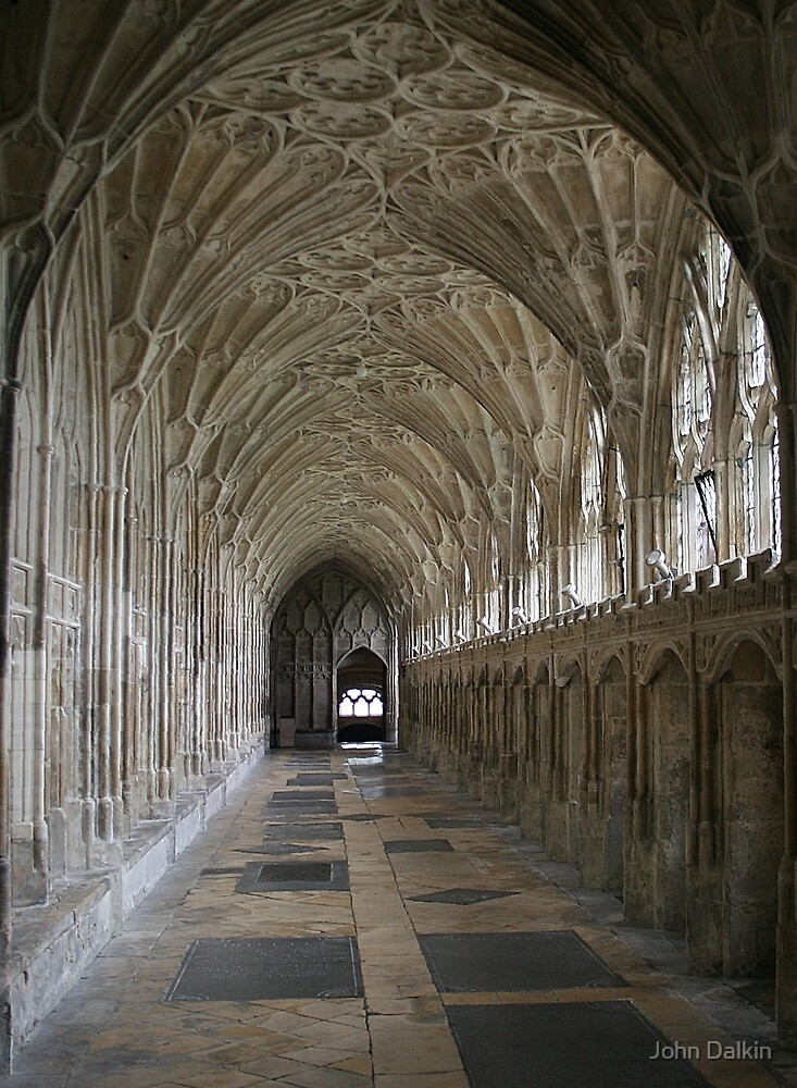 Vaulted ceiling, Gloucester Cathedral by John Dalkin