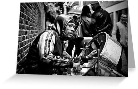 Bedraggled Street Performer: Portobello Road Market, London, UK. by DonDavisUK