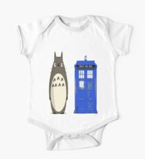 Totoro meets the tardis Kids Clothes