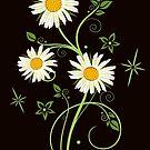 Ranke mit Margeriten, Wildblumen von Christine Krahl