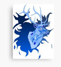 Elk in Blue Metal Print