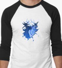 Elk in Blue Baseball ¾ Sleeve T-Shirt