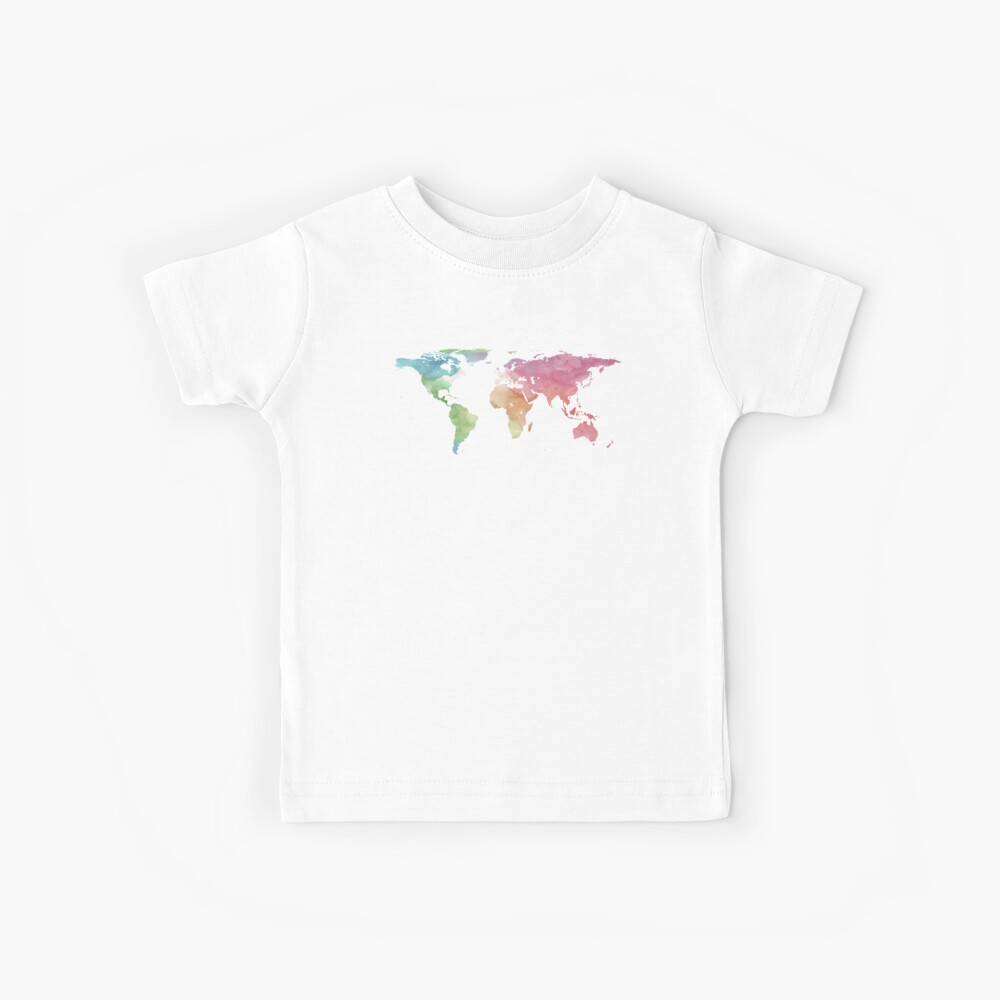 World Map | Rainbow Watercolour | Globetrotter Kids T-Shirt