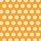 Dots and Triangles Yellow  #midcenturymodern by susycosta