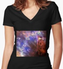 Visitors to the Castle Fitted V-Neck T-Shirt
