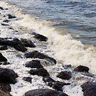 Wave on Rocks by Gillen