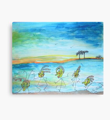 A day at the beach.. Canvas Print