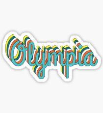Olympia Retro Sticker
