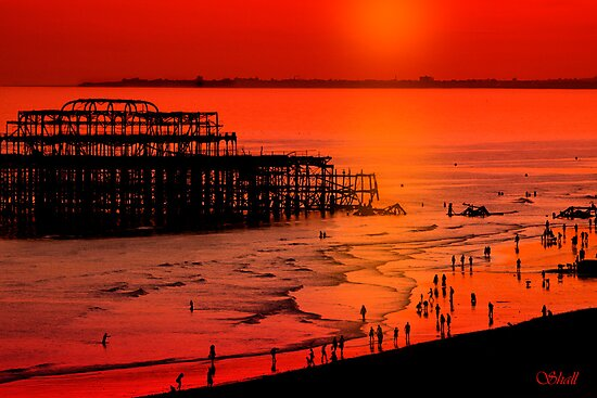 Brighton Sunset by shall