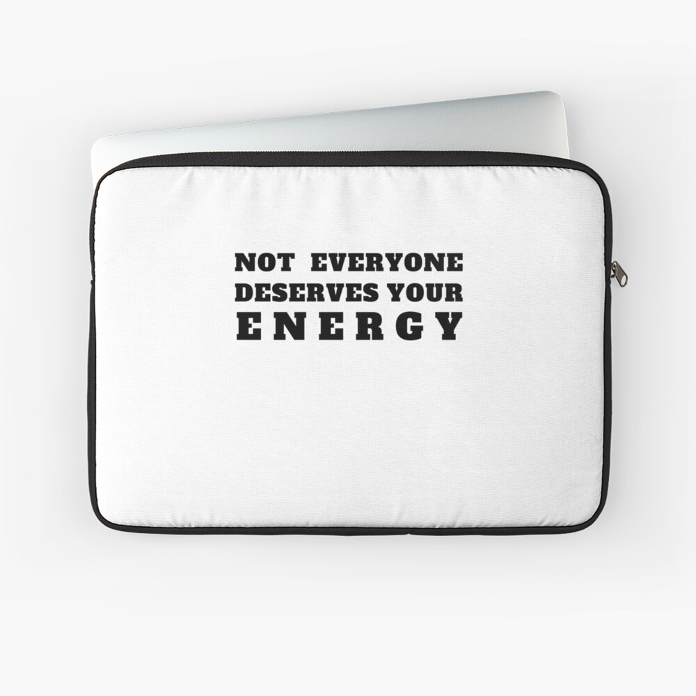 I Love Energy Quotes / Saying Art Design Positive Energies  Laptoptasche
