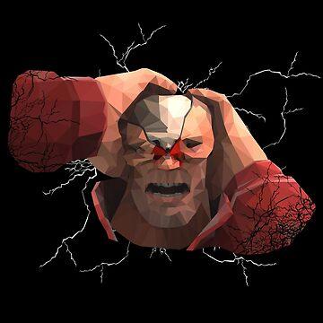 Splitting Headache Polygonal Soldier by hoodwinkedfool