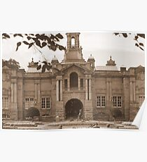 Cartright Hall ~ Lister Park ~ In Sepia ~ Poster