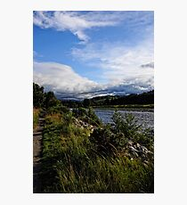 A view the river bank  Photographic Print