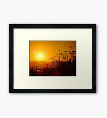 Sunset on civilisation Framed Print