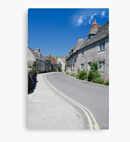 Corfe castle  Village street Canvas Print