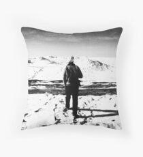 bw winter morning Throw Pillow