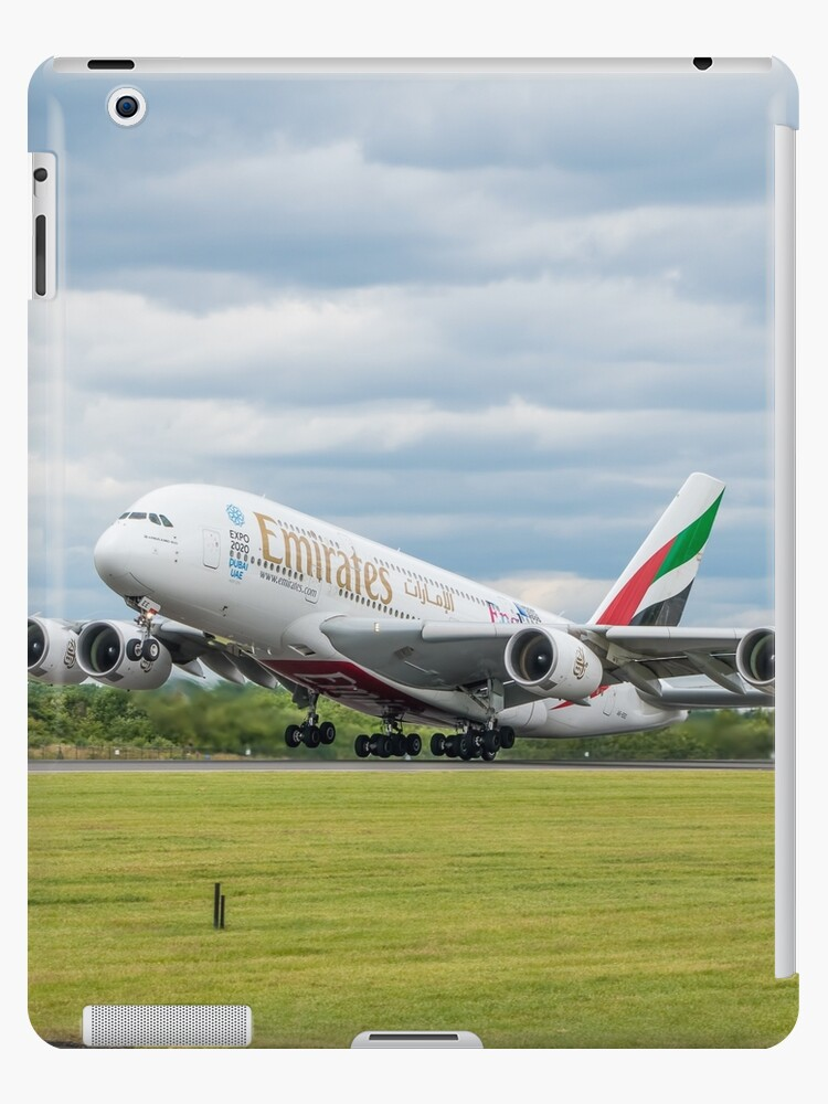 'Emirates Airbus A380 Takeoff' iPad Case/Skin by Russell102