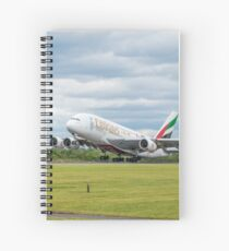 Emirates Airbus A380 Takeoff Spiral Notebook