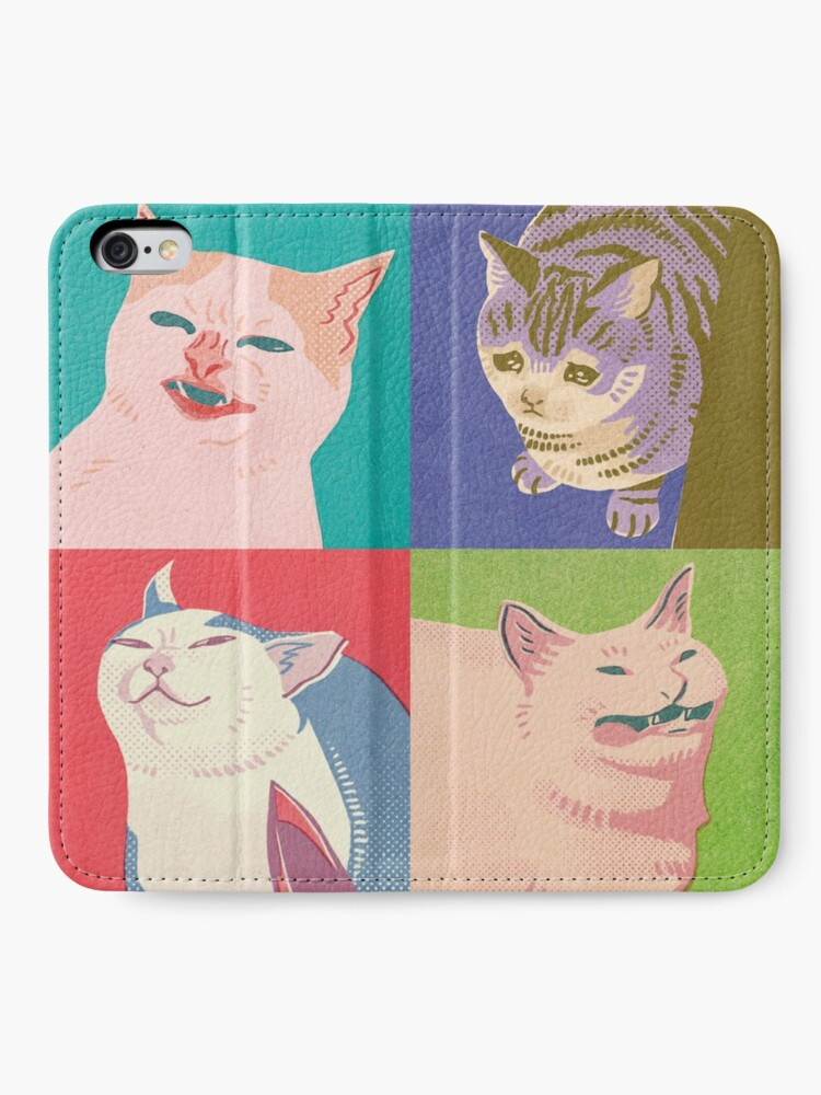 Alternate view of Four Meme Cats of the Apocalypse iPhone Wallet