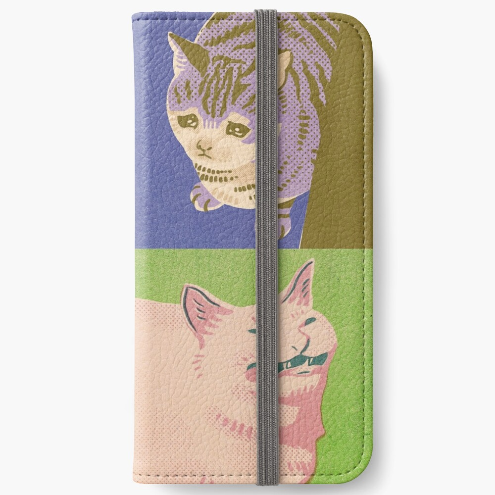 Four Meme Cats of the Apocalypse iPhone Wallet