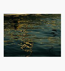 Sun ink drawing on water paper Photographic Print