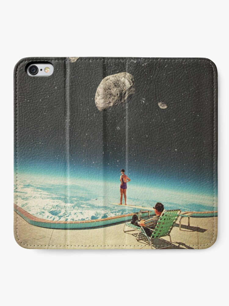 Alternate view of Summer with a Chance of Asteroids iPhone Wallet