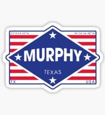 Murphy, Texas - Diamond Flag Sticker