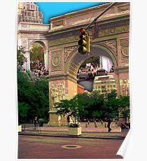 Washington Square Arch, Greenwich Village, NYC, NY Poster
