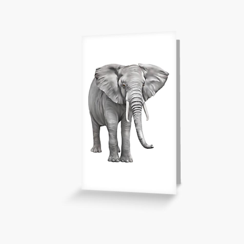 Large Elephant Greeting Card
