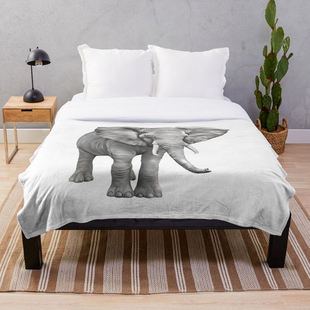 Large Elephant Throw Blanket