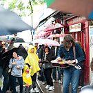 The Rain Don't Stop Play Today: Portobello Road Market, London, UK. by DonDavisUK