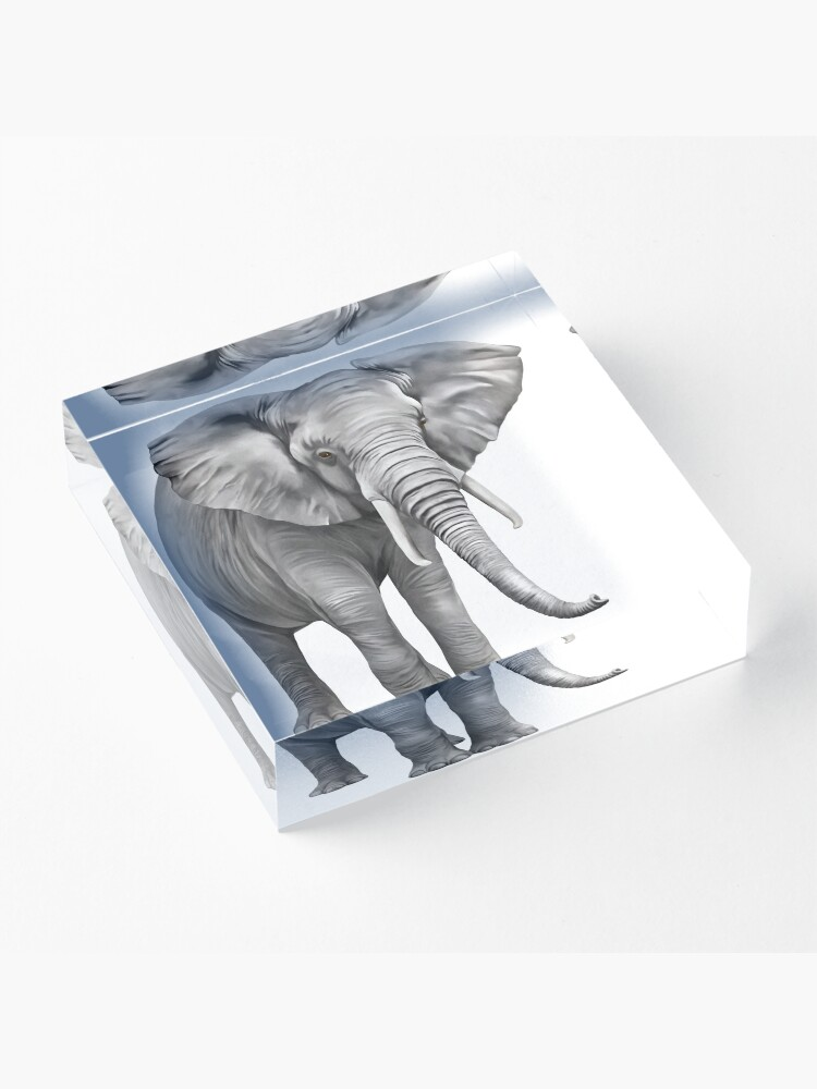 Alternate view of Large Elephant Acrylic Block