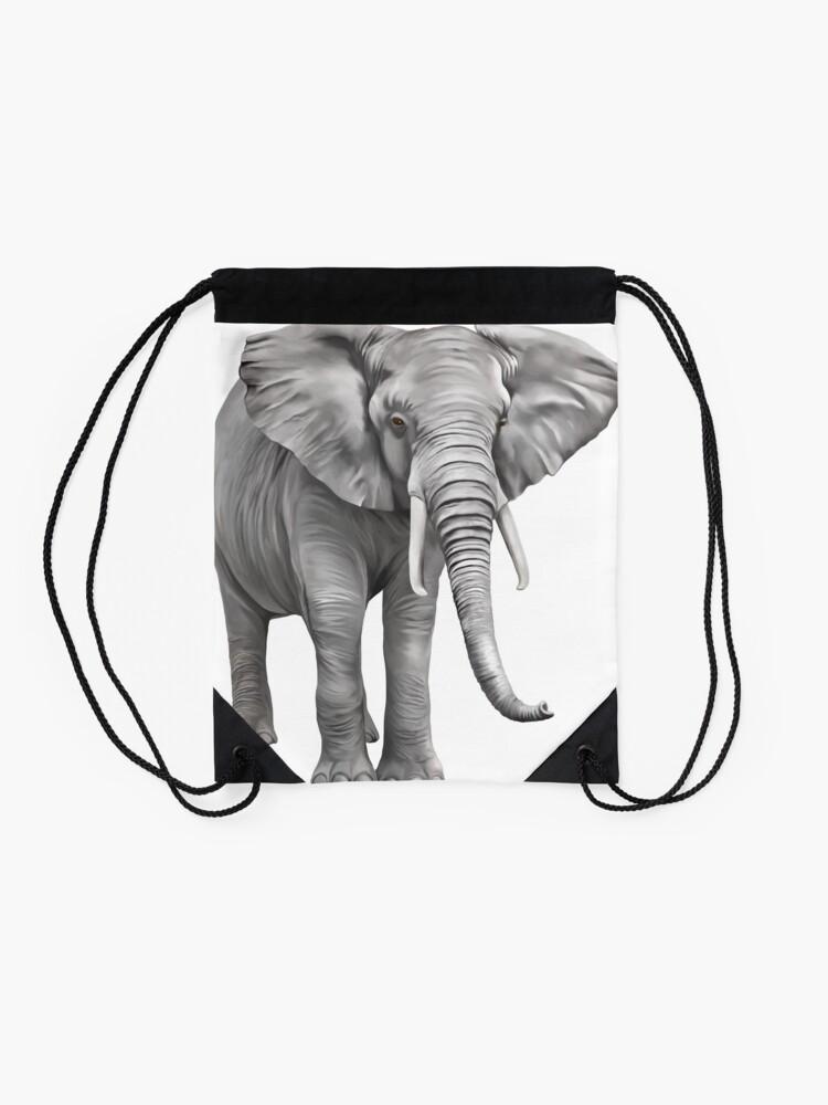 Alternate view of Large Elephant Drawstring Bag
