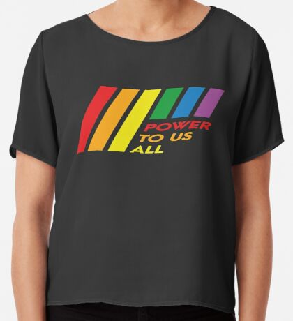 Pride Stripe: Power To Us All Chiffon Top