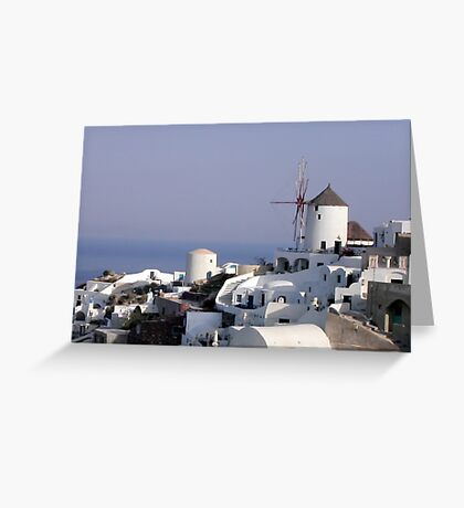 The windmill from Oia, Santorini Greeting Card