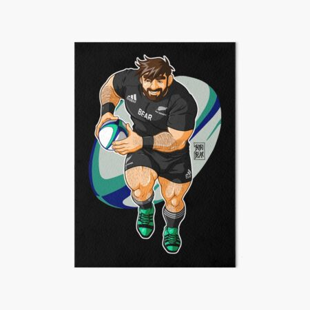 ADAM LIKES TO PLAY RUGBY - NEW ZEALAND Art Board Print