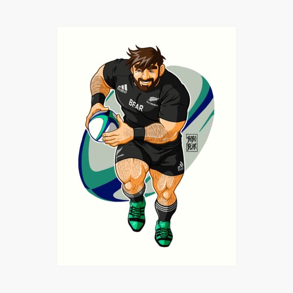 ADAM LIKES TO PLAY RUGBY - NEW ZEALAND Art Print