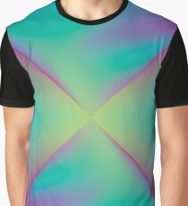 Digital Aurora Grafik T-Shirt