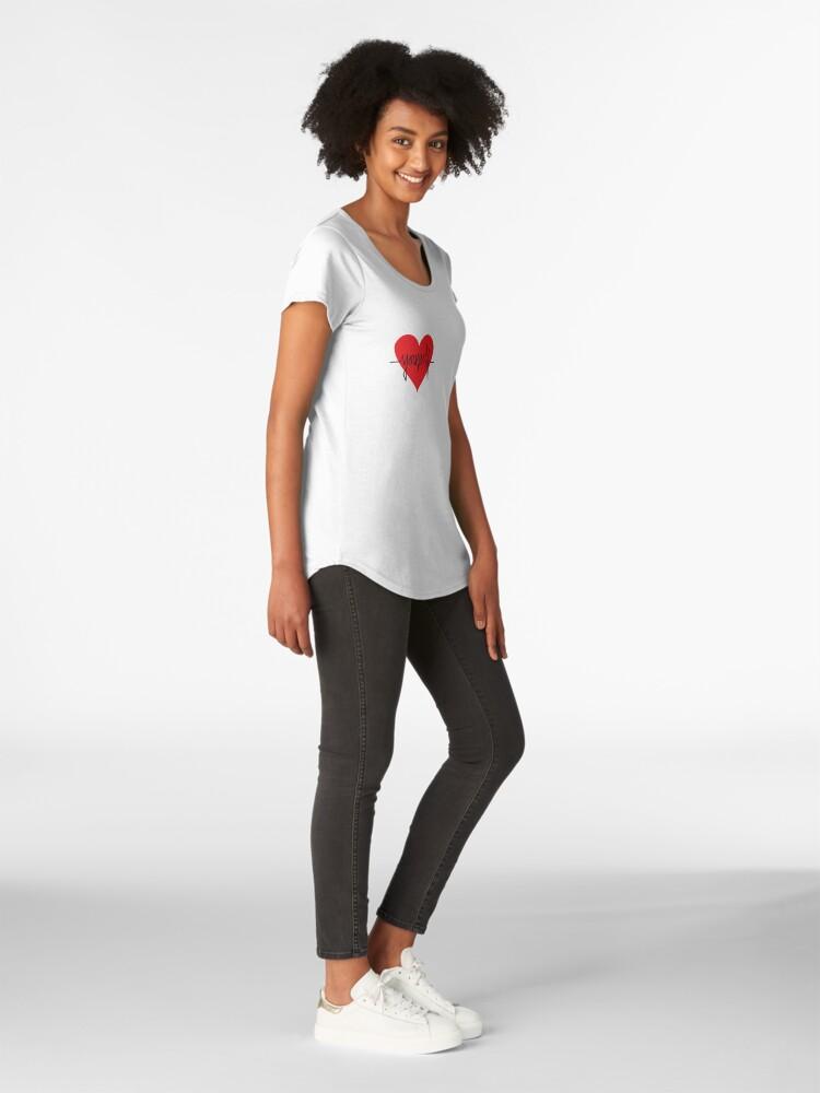 Alternate view of love yourself - zachary martin Premium Scoop T-Shirt