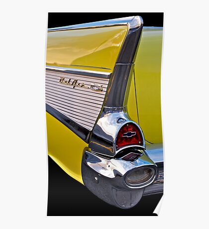 BelAir tail fin in yellow Poster