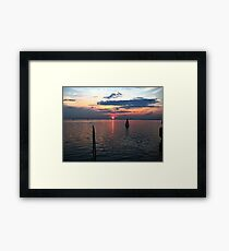 Italian Island Sunset Framed Print