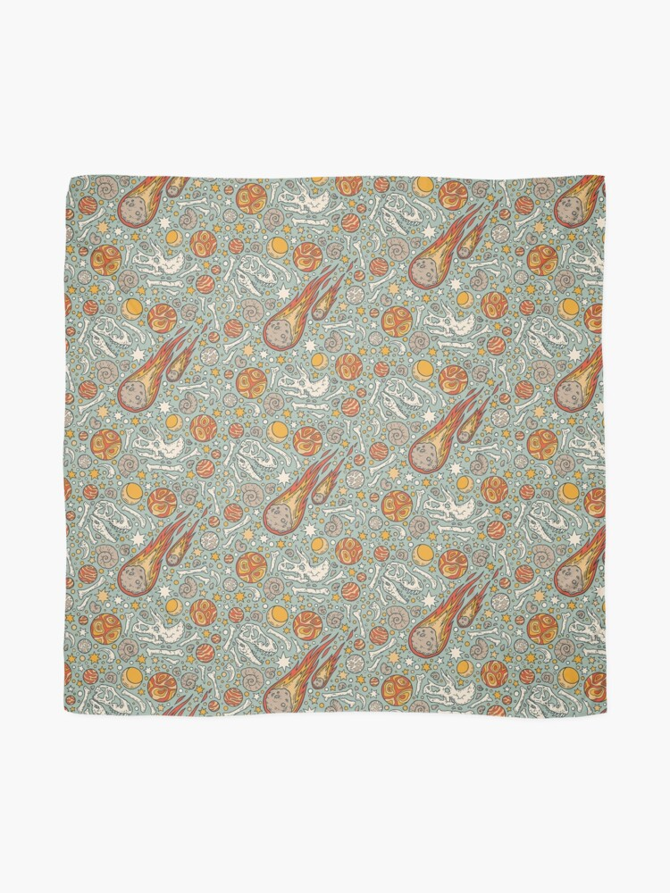 Alternate view of The Asteroid & the Omega || Dinosaur Fossil Space Art Scarf