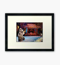 japanesse garden Framed Print