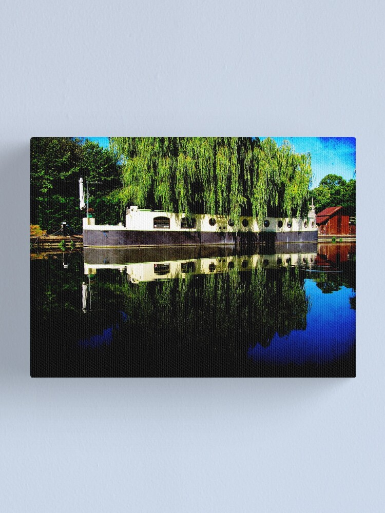 Alternate view of Canal Boat Canvas Print