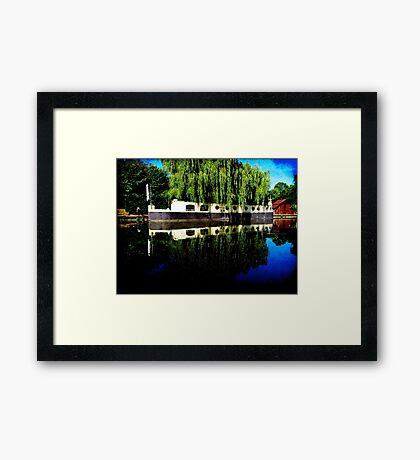 Canal Boat Framed Print