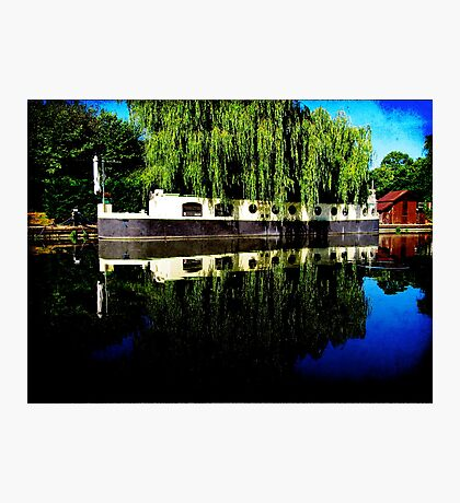 Canal Boat Photographic Print